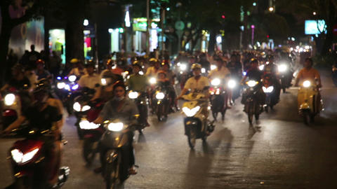 motorbike scooter traffic, ho chi minh city, vietn Footage