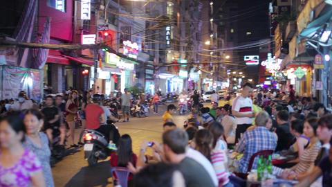 SAIGON, VIETNAM - MAY 2014: everyday night life Footage