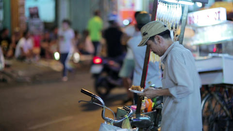 SAIGON, VIETNAM - MAY 2014: everyday night life Stock Video Footage