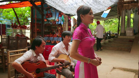 MEKONG DELTA, VIETNAM - 14 MAY 2014: traditional s Stock Video Footage