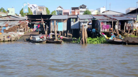 MEKONG DELTA, VIETNAM - 14 MAY 2014: Floating mark Footage