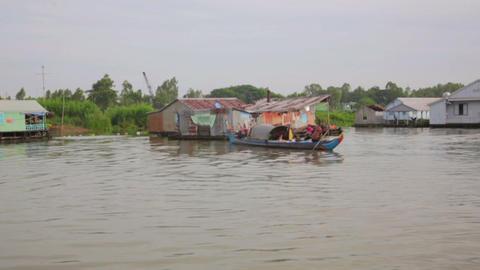Ordinary life around mekong delta Footage