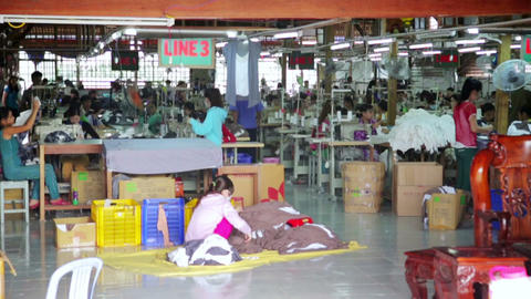 SAIGON, VIETNAM - MAY 2014: textile factory Footage