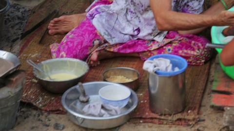 MEKONG DELTA, VIETNAM - MAY 2014: Ordinary life Footage