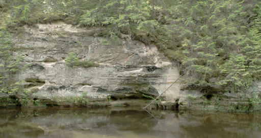 A Nice Tourist Attraction Of The Mountain Rock Nea stock footage