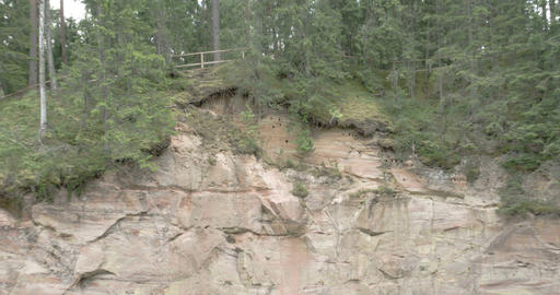 Close up of the rocky hill from the mountain fores Footage