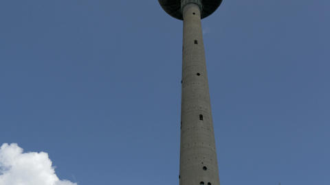 A long TV tower from Vilnius Lithuania GH4 4K UHD Footage