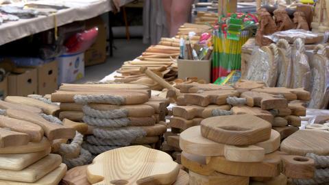 Pretty handicraft products of Trakai GH4 4K UHD Footage