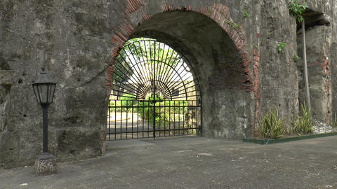 century old gate and wall Footage