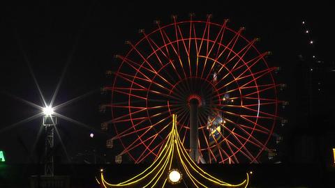 colorful huge ferriswheel Footage