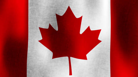 Canadian Flag Waving, Loopable Animation