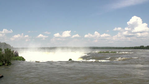 015 Iguazu waterfalls , viewed from Argentina , De Stock Video Footage