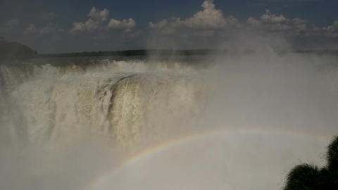 024 Iguazu waterfalls , viewed from Argentina , De Stock Video Footage
