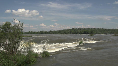 026 Iguazu waterfalls , viewed from Argentina , De Stock Video Footage