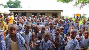 Afrikan Children stock footage
