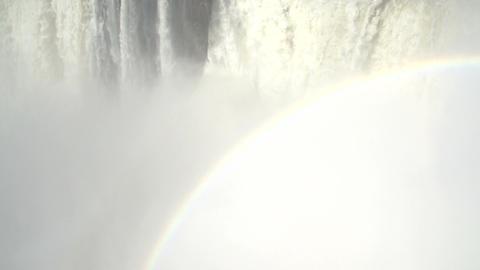 034 Iguazu waterfalls , viewed from Argentina , De Stock Video Footage