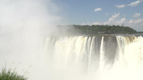 038 Iguazu waterfalls , viewed from Argentina , De Stock Video Footage