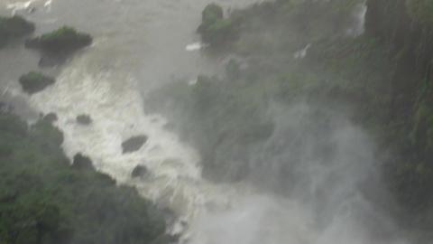 055 Iguazu waterfalls , Argentina , people on brid Footage