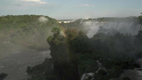 058 Iguazu waterfalls , Argentina , rainbow , slow Stock Video Footage