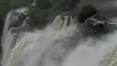 060 Iguazu waterfalls , Argentina , slowmotion Footage