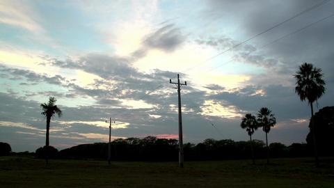 067 Pantanal , timelapse of sunrise , landscape ,  Footage