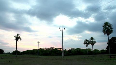 067 Pantanal , timelapse of sunrise , landscape , Stock Video Footage