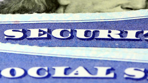 Social security card - Identification for citizens Stock Video Footage