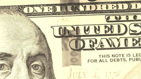 US Currency One Hundred Dollar Bill Footage