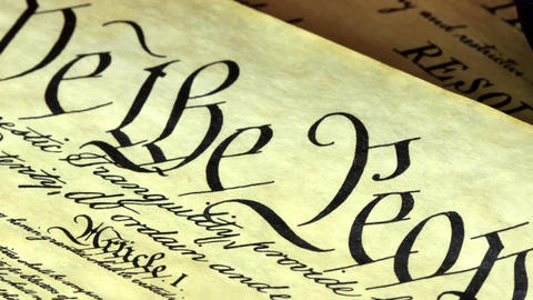 Constitution Of United States Historical Document stock footage