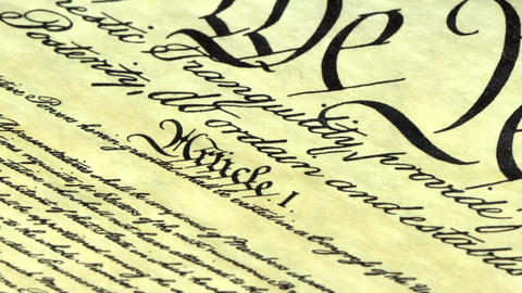 Constitution of United States Historical Document Stock Video Footage
