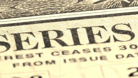 United States Savings Bonds stock footage