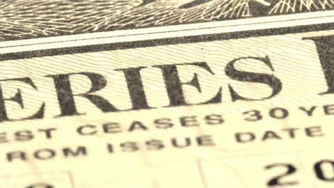 United States Savings Bonds Stock Video Footage