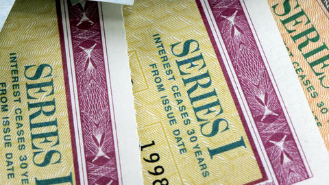 United States Savings Bonds Stock Video Footage