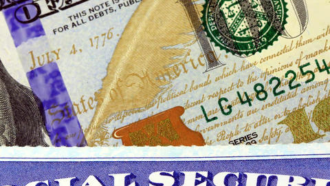 US Currency One Hundred Dollar Bill stock footage