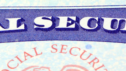 Social security card - Identification for citizens Footage