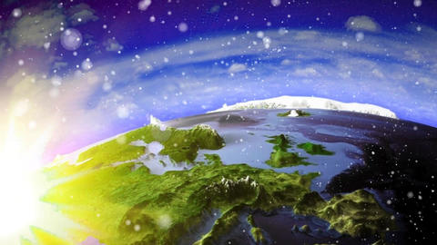 Earth and Mountains Zoom Out Animation Wallpaper Animation