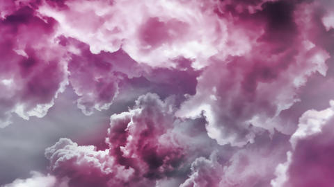 Flying Through Pink Clouds Animation Video Animation