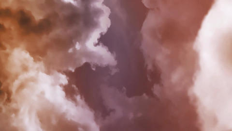 Red Cloud Zoom Out Animation stock footage