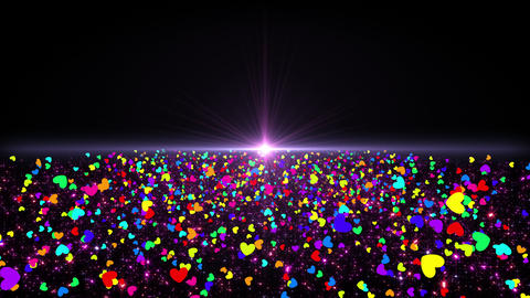 Space Colorful Heart A 1b 4k Stock Video Footage