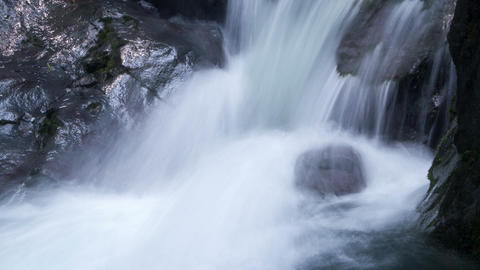 Beautiful Waterfall Timelapse stock footage