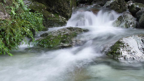 Beautiful waterfall timelapse Stock Video Footage