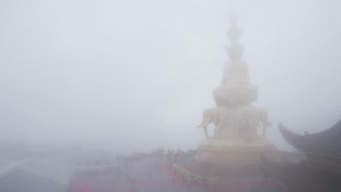 Samantabhadra Bodhisattva statue Footage
