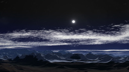 Moonlit night in the mountains Animation
