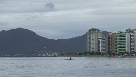 019 Florianopolis , skyline Beira Mar avenue , can Stock Video Footage