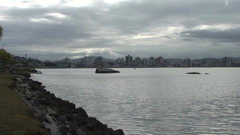 039 Florianopolis , skyline Beira Mar avenue , wat Footage