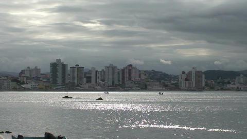 043 Florianopolis , skyline Beira Mar avenue , wat Footage
