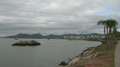 045 Florianopolis , skyline Beira Mar avenue , wat Footage