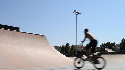 Trainings during the DVS BMX Series 2014 by Fuel T Stock Video Footage