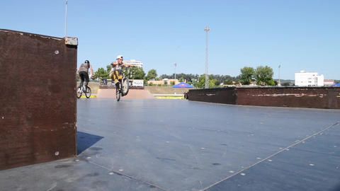 Gabriel Neto during the DVS BMX Series 2014 by Fue Stock Video Footage