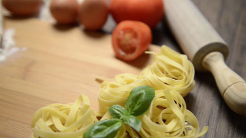 Italian pasta ingredients Stock Video Footage